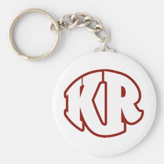 Mörder-rotes Logo #2 Standard Runder Schlüsselanhänger