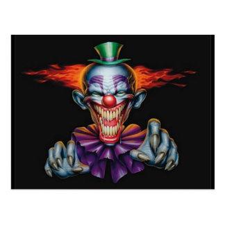 Mörder-Übel-Clown Postkarte