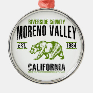 Moreno Valley Silbernes Ornament