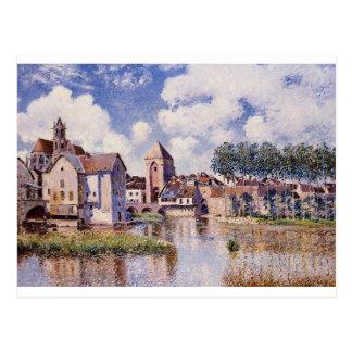 Moret sur Loing Porte de der Burgund durch Alfred Postkarte