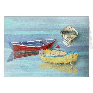 Morgen-Boots-Sommer-Gruß-Karte Grußkarte
