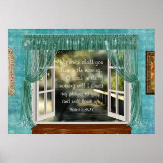 Morgen-Gebets-Schrift Poster