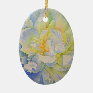 Morgen-Glühen Ovales Keramik Ornament