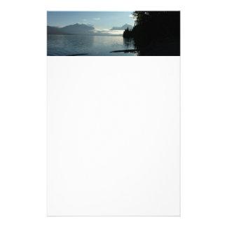 Morgen in See McDonald im Glacier Nationalpark Briefpapier