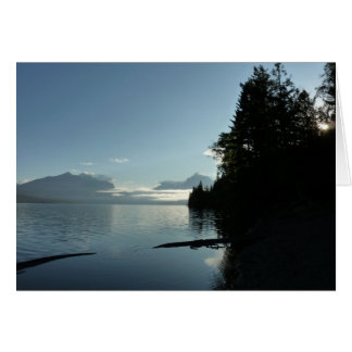 Morgen in See McDonald im Glacier Nationalpark Grußkarte