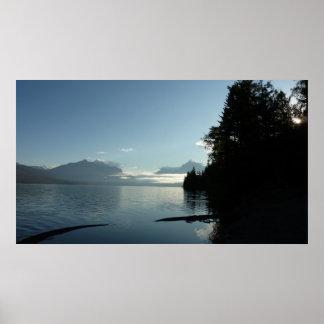 Morgen in See McDonald im Glacier Nationalpark Poster