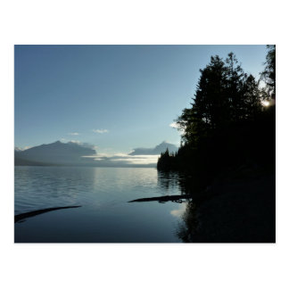 Morgen in See McDonald im Glacier Nationalpark Postkarte