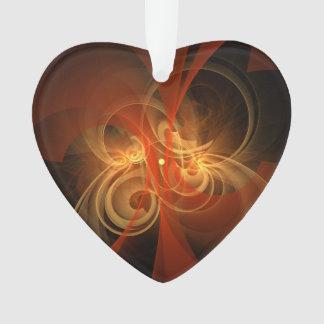 Morgen-magisches abstraktes Kunst-Acryl-Herz Ornament