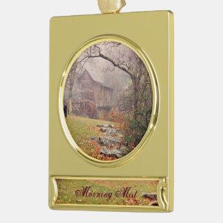 Morgen-Nebel Banner-Ornament Gold