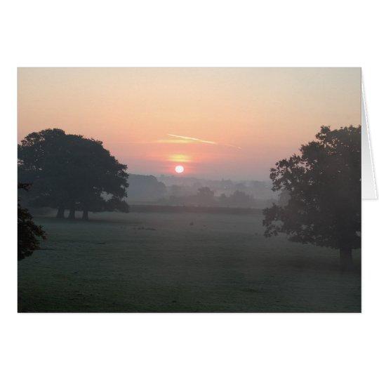 Morgen-Nebel Mitteilungskarte