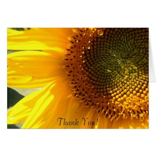 Morgen-Sonnenblume-Anmerkungs-Karte Mitteilungskarte