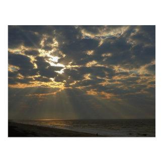 Morgen Sun auf Ozean - Eichen-Insel, NC Postkarte
