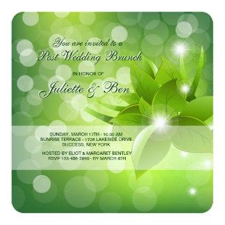 Morgen-Tau-Posten-Hochzeits-Brunch-Einladung Quadratische 13,3 Cm Einladungskarte