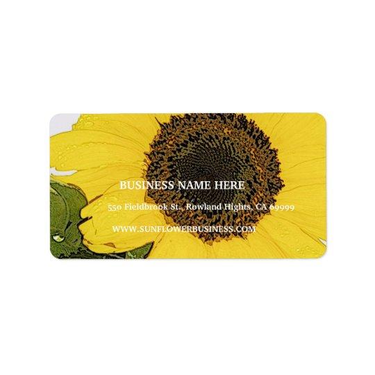 Morgen-Tau-Sonnenblume Adressaufkleber
