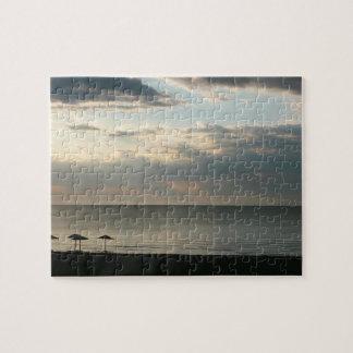 Morgenhimmel über griechischer Strandphotographie