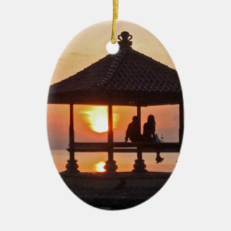 Moring in Bali-Insel Keramik Ornament