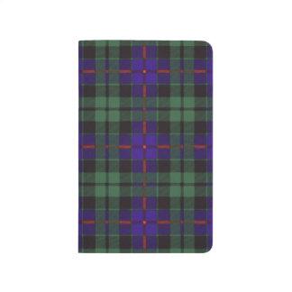 Morrison-Clan karierter schottischer Tartan Taschennotizbuch