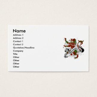 Morrisontartan-Löwe Visitenkarten