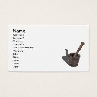 Mörser-Sockel-Bolzen Visitenkarte