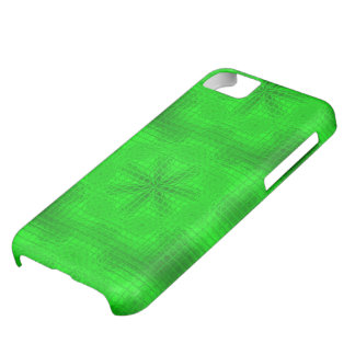 Mosaik-Blumen grüner iPhone 5c Neonkasten iPhone 5C Hülle