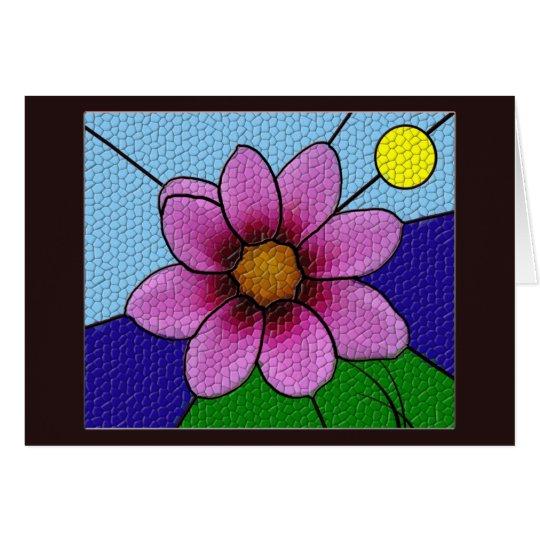 Mosaik-Blumen-Gruß-Karte Grußkarte
