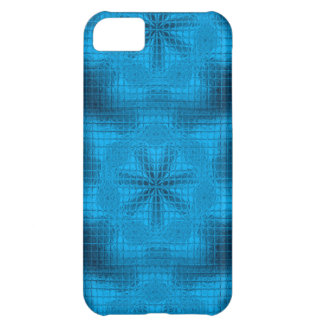 Mosaik-Blumen hellblauer iPhone 5c Fall iPhone 5C Hülle