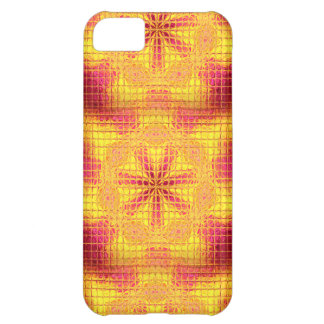Mosaik-Blumen Rosa-Gelber iPhone 5c Kasten iPhone 5C Hülle