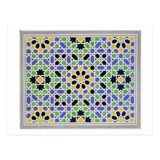 Mosaik in den Sockelen der Tür in der Halle der Postkarte