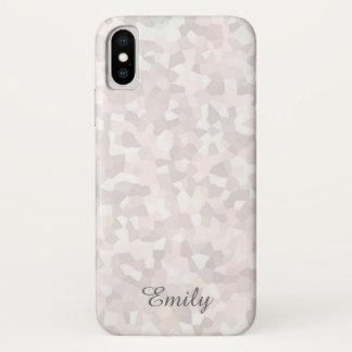 Mosaik-rosa Monogramm iPhone X Hülle