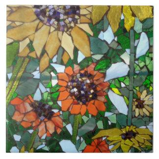 Mosaik-Sonnenblumen Fliese