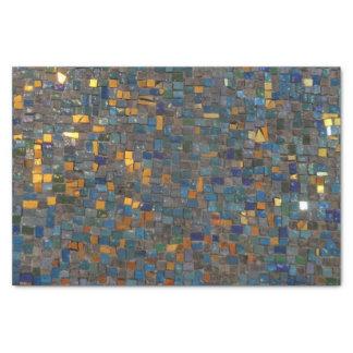 Mosaik-Steine im Blau und im Gold Seidenpapier
