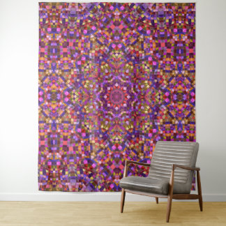 Mosaik-Vintage Kaleidoskop-Wand-Tapisserie Wandteppich