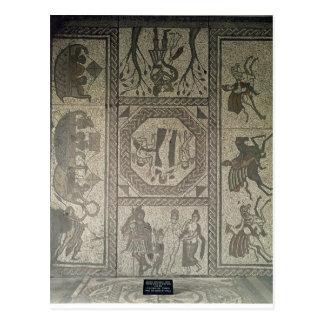 Mosaikplasterung vom römischen Landhaus am Tief Postkarte