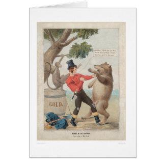 Mose in Kalifornien: Set-zu mit einem Bären (1475) Karte