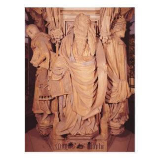 Moses, Detail vom sechseckigen Sockel Postkarte