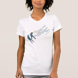 Moshe Zitat: Leben-nicht stabiler Prozess für sie T-Shirt