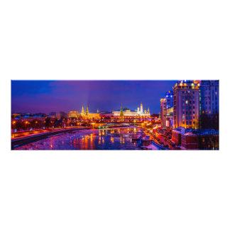 Moskau der Kreml belichtet Fotodruck
