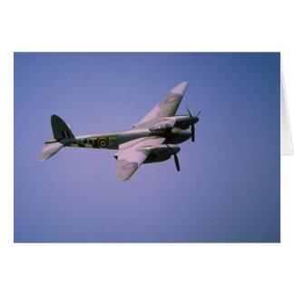 """""""Moskito-"""" T-3 De Havillands DH-98, im Flug in BO Karte"""
