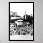 Moslem-Anbetung am Mekka Arabien im Jahre 1885 Posterdruck
