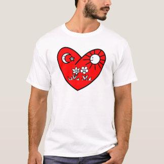 Moslemisches Valentinsgruß-Rot-Herz T-Shirt