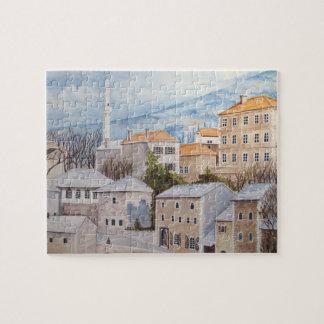Mostar, Bosnien - AcrylTownscape Malerei