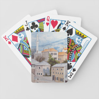 Mostar, Bosnien - AcrylTownscape Malerei Bicycle Spielkarten