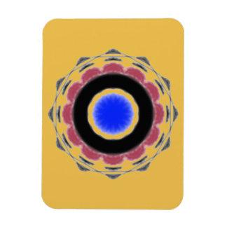 Motif abstrait frais de cercle magnet rectangulaire avec photo