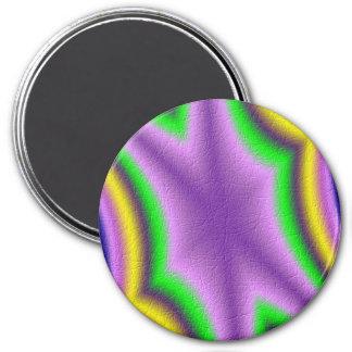 Motif abstrait frais magnet rond 7,50 cm