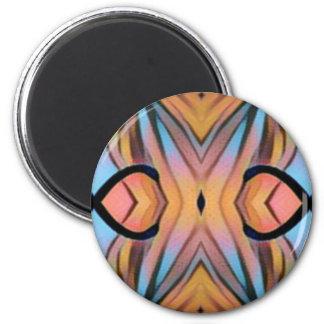 Motif artistique chic moderne frais magnet rond 8 cm