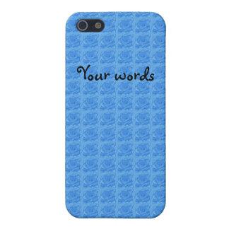 Motif bleu-clair de roses étuis iPhone 5