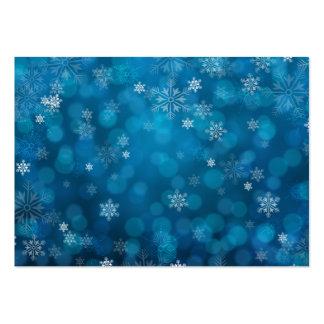motif bleu grunge d'abrégé sur neige carte de visite grand format