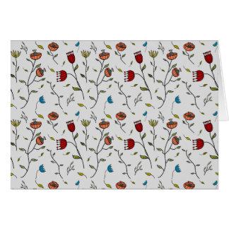 Motif coloré d'impression de fleurs d'épice carte de correspondance