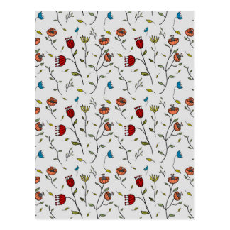 Motif coloré d'impression de fleurs d'épice cartes postales