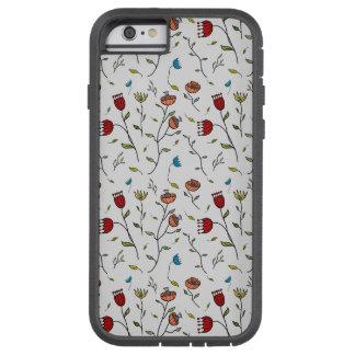 Motif coloré d'impression de fleurs d'épice coque iPhone 6 tough xtreme